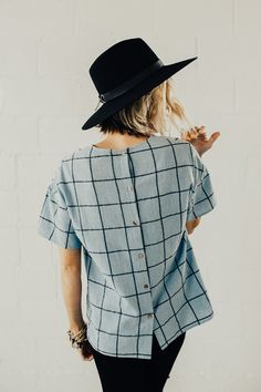 Button Back Blouse   ROOLEE