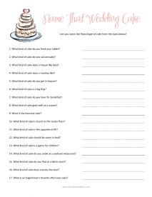 Printable shower game- Who Knows the Bride Best? Get to