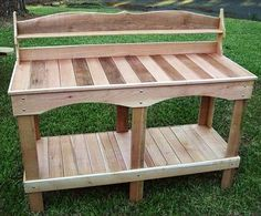 10 DIY Pallet Potting Bench Ideas | NewNist
