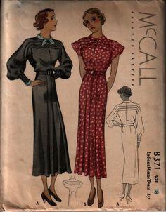 McCall 8371; ©1935; Ladies' & Misses' Dress.