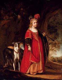 Portrait of a young girl as Diana,c. 1630 by Govaert Flinck