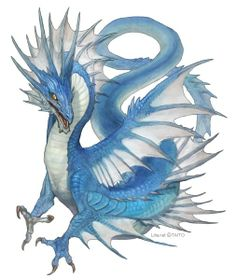 32 Trendy Ideas for fantasy art tattoo water dragon Manga Dragon, Dragon Art, Water Dragon, Blue Dragon, Magical Creatures, Fantasy Creatures, Fantasy Kunst, Fantasy Art, Dragon Tatoo