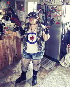 My Tank Girl Cosplay Tank Girl Cosplay, Cosplay Ideas, Upcycle, Halloween Costumes, Digital Art, Dragon, Punk, Wall Art, Comics