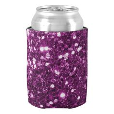 Purple Faux Glitter Sparkles Can Cooler - fancy gifts cool gift ideas unique special diy customize