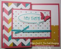 May Class-To-Go Kit - Register by May 15, 2014.  Just Sayin' Z-Fold Card - word bubbles, kaleidoscope dsp, bitty butterfly, stampin up, too cool stamping