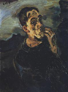 Oskar Kokoschka, self portrait