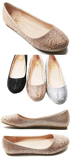 873d64d62 Sassy Sexy ELLE-2 New Women s Faux Suede Glitter Upper Low Wedge Heels  Pumps Shoes