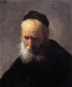 Rembrandt 1628-30 Head of an Old Man (in a Cap) oil on oak panel 24.3 x 20.3 cm Agnes Etherington Art Centre, Kingston, Ontario, Canada