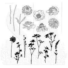 Image result for Cling Mounted Rubber Stamp Set - Flower Garden