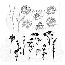 Image result for Cling Mounted Rubber Stamp Set - Flower Garden