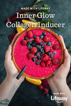 Illuminate your energy with this Inner Glow Collagen Inducer! These earthy ingredients may help soften, hydrate, and strengthen your skin and hair. Kefir How To Make, Farmers Cheese, Raspberries, Our Body, Original Recipe, Vitamin C, Eating Habits, Beets, Collagen