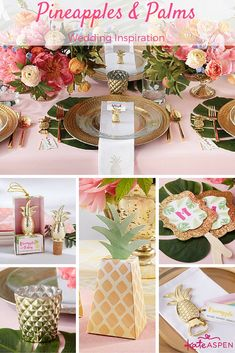 Infuse Island Inspiration into your wedding with Kate Aspen's Pineapples and Palms Wedding Collection!