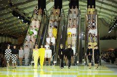 Insight :: Quick Pic: Louis Vuitton's Escalator Runway :: Gotham Magazine