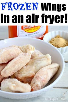 How to Make Frozen Chicken Wings in an Air Fryer = Game Changer! - - How to Make Frozen Chicken Wings in an Air Fryer = Game Changer! Chicken recipes Frozen Chicken Wings in Air Fryer! Teriyaki Chicken Wings, Air Fry Chicken Wings, Frozen Chicken Wings, Air Fryer Chicken Tenders, Teriyaki Sauce, Chicken Thighs, Air Fryer Recipes Low Carb, Air Fryer Recipes Breakfast, Air Fryer Dinner Recipes