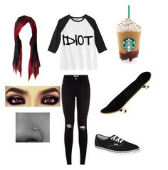 """Skater Chick"" by micahbentivegna on Polyvore featuring Vans"