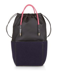 f0d90e0821b Top-handle felt backpack by Toga