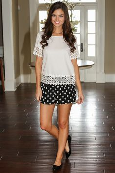 Hello Gorgeous! Want, need, love! The perfect white blouse to brighten up your wardrobe with crochet detailing! Repin!