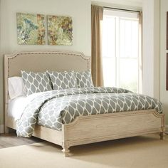 Demarlos King Upholstered Bed - Bernie And Phyls