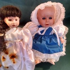 Vintage porcelain dolls need new clothes, porcelain dolls, vintage dolls, TLC dolls, new doll clothes, vintage dolls, vintage porcelain,doll by Vintagepetalpushers on Etsy