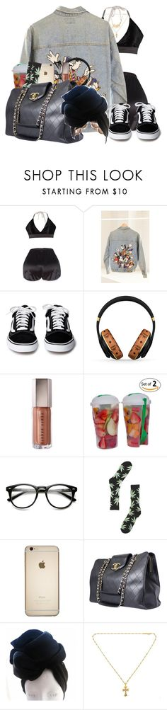"""confidence x chris brown"" by idc-baby ❤ liked on Polyvore featuring Urban Renewal, MCM, HUF, Chanel and Chrome Hearts"