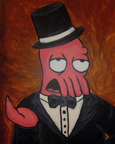 My painting of Dr. Zoidberg that I did for a friend a few years ago