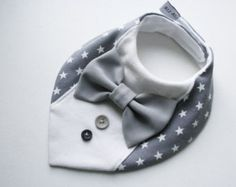 Bébé Bébés Garçons Coton Blanc Bleu Noeud Papillon Longue Cravate Over Head Feeding Bib Bibs