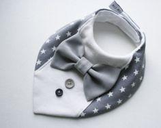 Baby bib boy removable bow tie nice baby shower by BizBizBaby