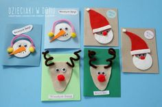 9 More Easy Homemade Christmas Cards with Step by Step Instructions – DIY Fan Unique Christmas Cards, Homemade Christmas Cards, Christmas Frames, Christmas Cards To Make, Christmas Projects, Christmas Diy, Diy And Crafts, Crafts For Kids, Snowflake Cards
