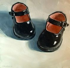 "Daily Paintworks - ""Mary Janes"" - Original Fine Art for Sale - © Michael Naples"