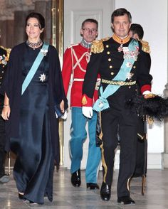 Crown Princess Mary and Crown Prince Frederik were in attendance for day two of the New Year's reception 2016