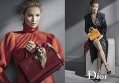 Jennifer Lawrence na campanha de acessórios de inverno 2017 da Dior