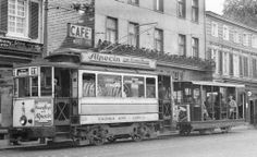 Unusual small and simple open trailer car here with this German #trolley (date of picture is late 1930's). TMNY collection#2798.