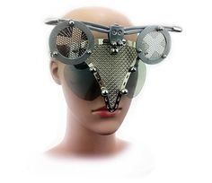 Hi Tek Alexander handmade futuristic modern steampunk  transformer unusual eyewear mask