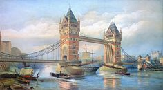 London: Tower Bridge, 1895 by Granger Tower Bridge London, Tower Of London, River Thames, Art History, Design Projects, Giclee Print, Prints, Poster, Travel