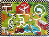 Farm Pathfinder Wall Panel - Wooden Wall Mounted Toy Panel