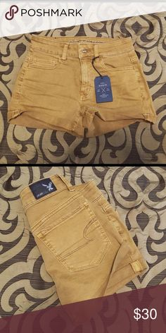 AE shorts Size 0. NWT. Tan/mustard color. American Eagle Outfitters Shorts