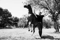 One such person is Santi Serra, who has taken his natural raw passion and deep connection with his horses and other animals to another Ibiza Fashion, Camps, Wetsuit, Horses, Swimwear, Style, Animales, Scuba Wetsuit, Bathing Suits