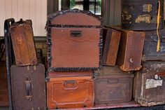 Vintage trunks and luggage