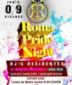 Vía @aaronbarrerapal  Ven a celebrar el orgullo a #romaviernes #romacancun #romanightclub #gay #pride #gaypride #pride2017 #pridecancun #gay #cancun #mexico