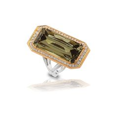 Ring, Gold and Platinum, 26.80 cts. Radiant Zultanite® - http://www.zultanite.org/shop