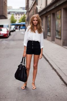 #High #Waist #Shorts #Ideas For #Spring #Summer #2017