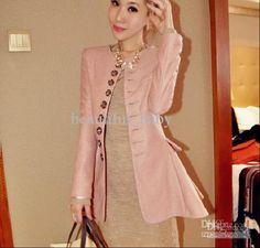 New Korean Fashion Women's Woolen Outerwear Long Sections Slim Woolen Dress Coat From Beautiful_baby, $34.72 | Dhgate.Com