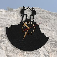 Conquerors of Peak Wall Clock, Rock Climbing Wooden Clock, Wall Art Decor, Wood Clock, Modern, Home decor, Gift Idea