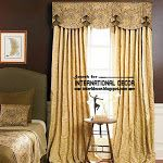 English style curtains for bedroom and window valances