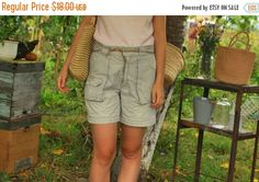 SALE Beige Outdoor Shorts with Pockets VINTAGE 70s Shorts With Pockets, Vintage 70s, Bermuda Shorts, Beige, Outdoor, Women, Fashion, Outdoors, Moda