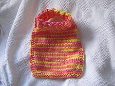 Easy Slip On Baby Bib - Knitted