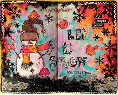 JIJI Cards: Арт журнал: Нека вали {Art journal: Let it snow}