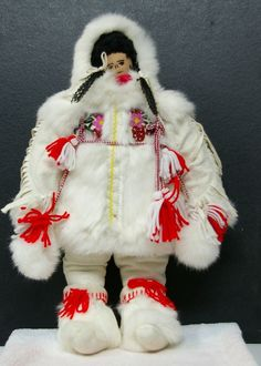 Large INUIT GWICH'IN DENE DOLL - 22 inch Tall - North West Territories