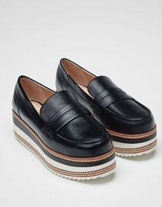 Pull&Bear - mujer - zapatos - ver todo - mocasín moda - negro - 11170211-V2017