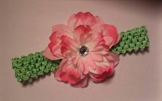 Bright pink and lime green summer headband sit 12 month to teen size! Check out this item in my Etsy shop https://www.etsy.com/listing/214871665/pink-5-inch-lime-green-flower-headband